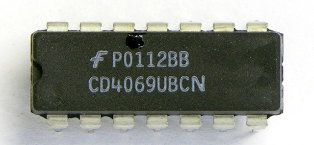 Faulty CD4069 IC