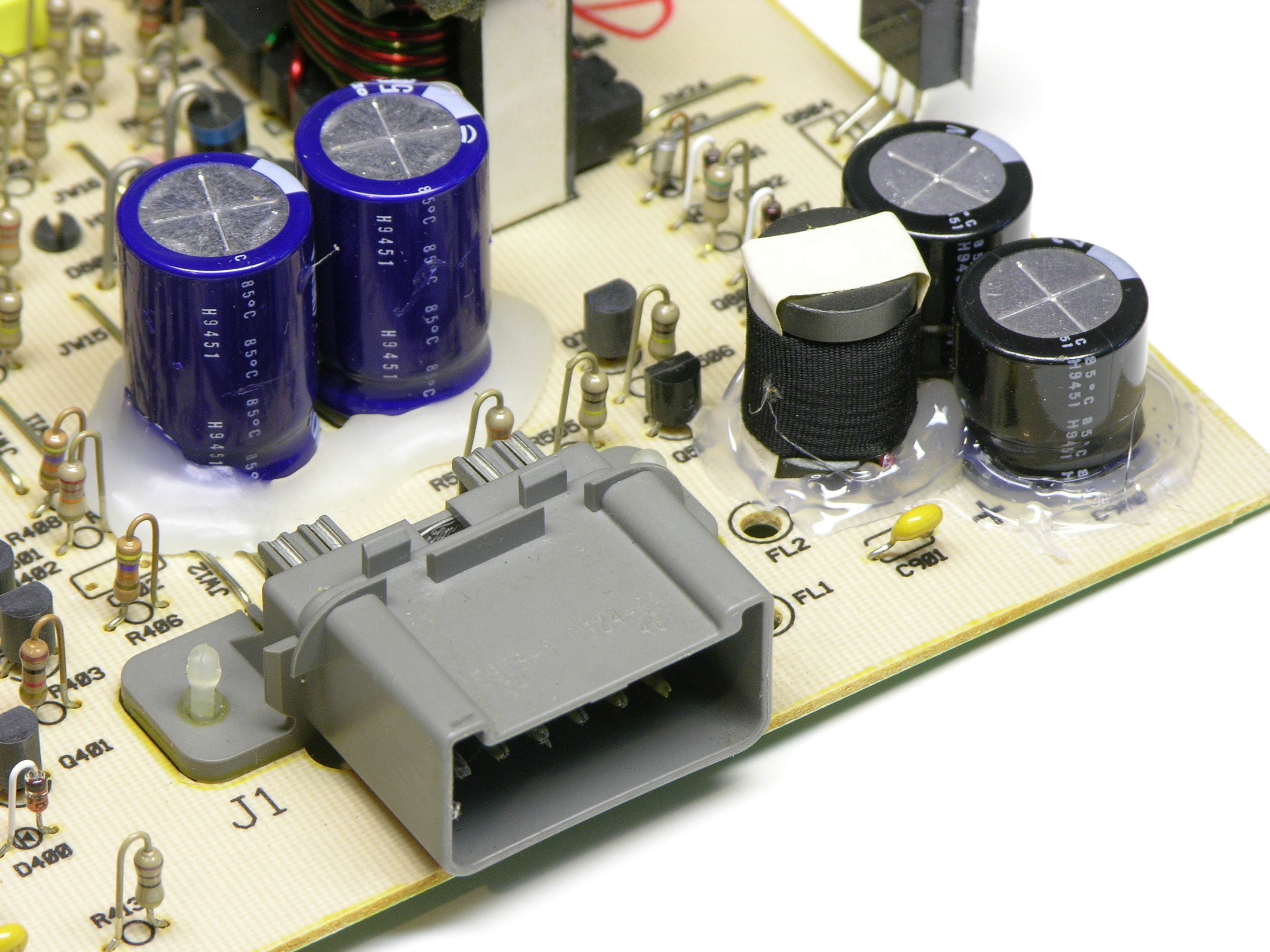 Fixing Jeremys Ford Mach 460 Bass Amplifier Keiths Electronics Blog Amp Wiring Diagram Glued Pi Filter In