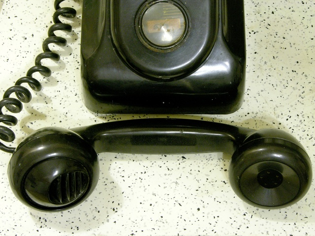 Old telephone handset