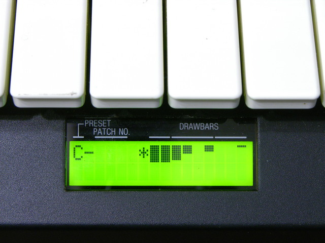 Hammond XB-2 drawbar display