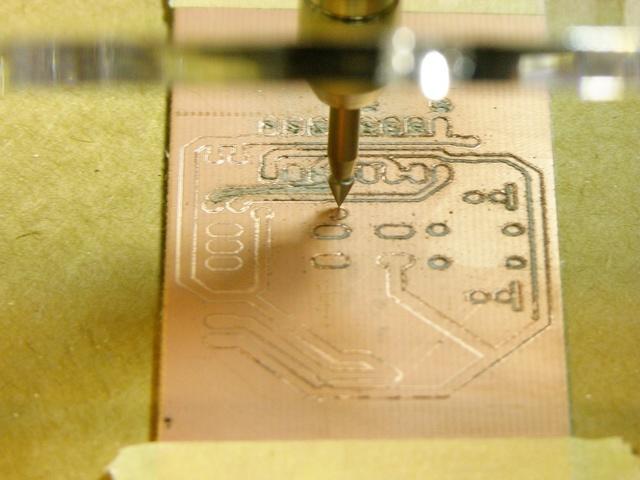 Dremel milling PCB in MakerBot CupCake