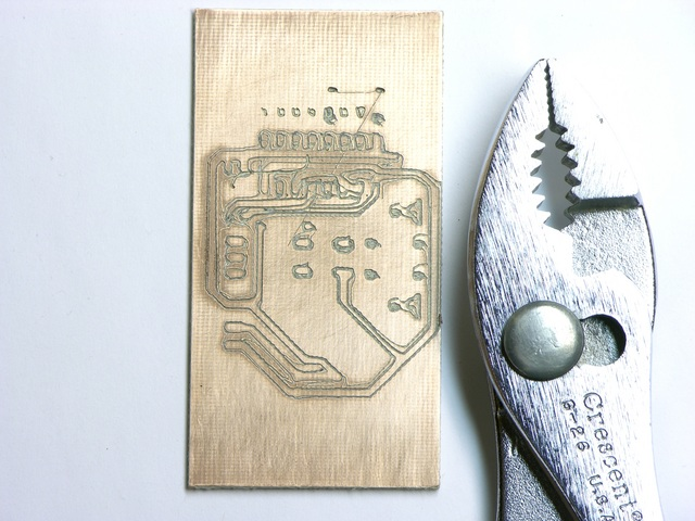 Circuit board milled on MakerBot CupCake
