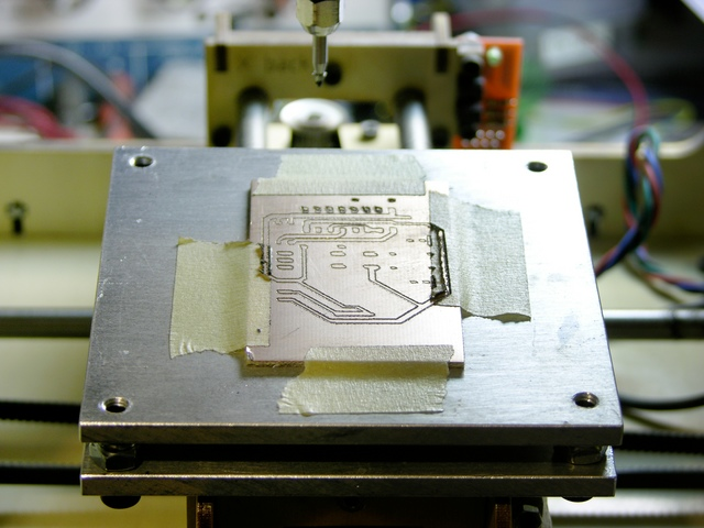 Leveling platform in MakerBot CupCake, closeup