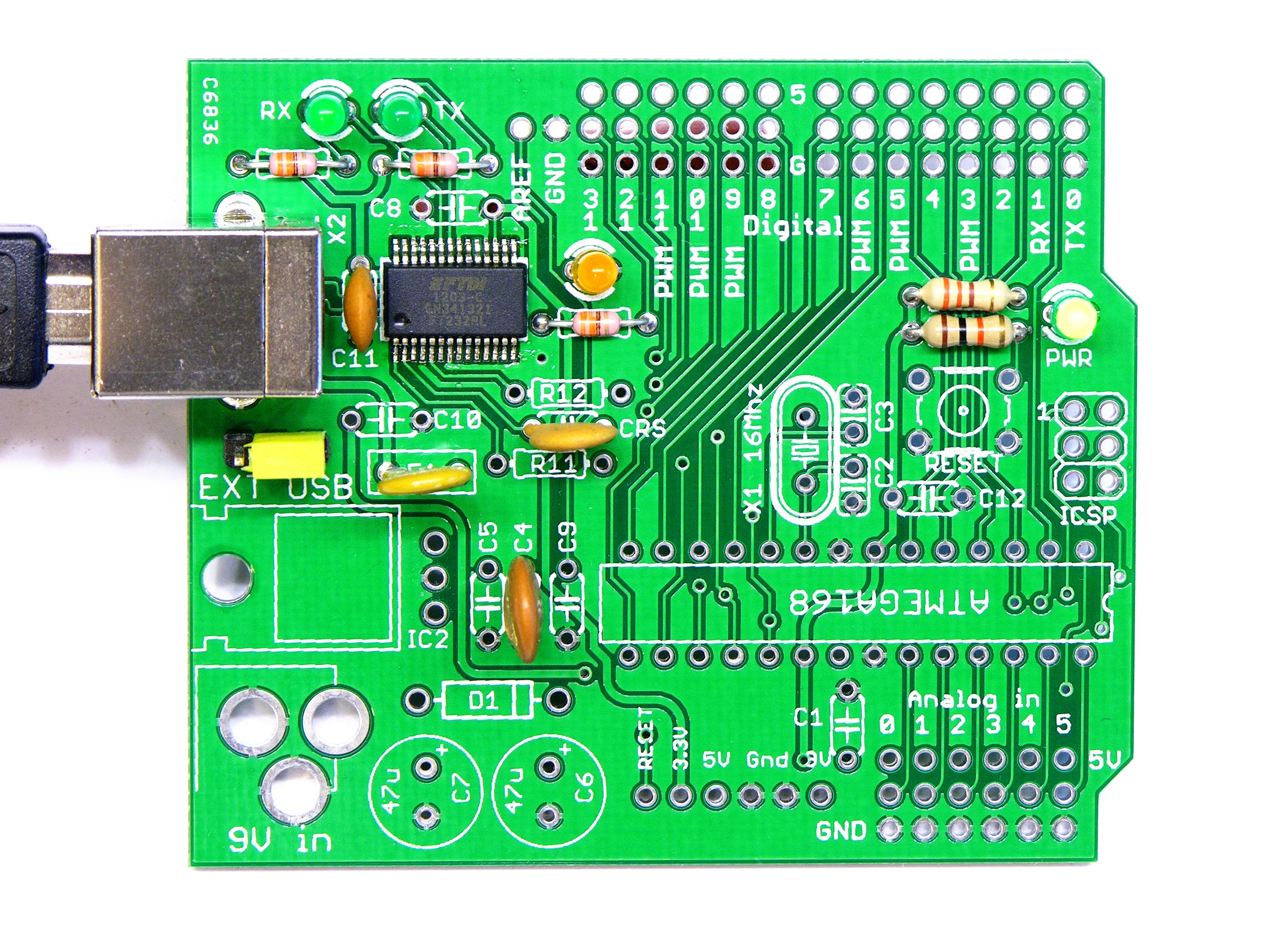 Arduino Keiths Electronics Blog With Thermistor And Voltage Divider Circuit Programming The Compatible Usb Serial Components Installed