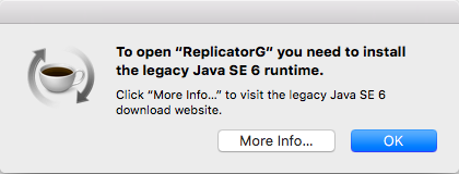 ReplicatorG 0026 needs Java SE6