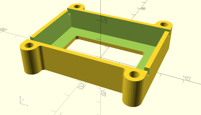OpenSCAD model of Makeblock mBot LiPo battery holder