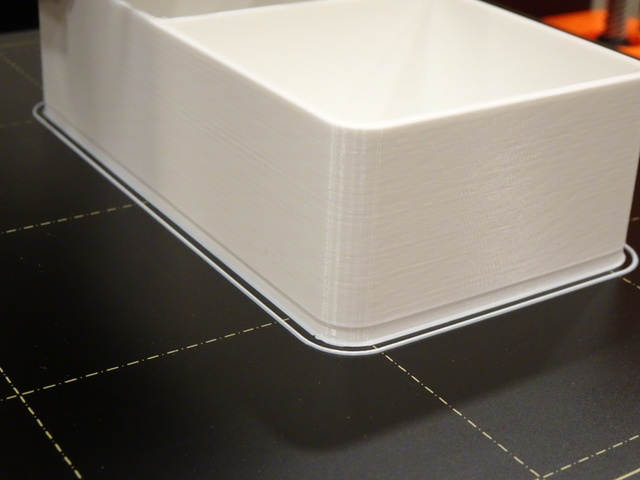3D-printed PLA box