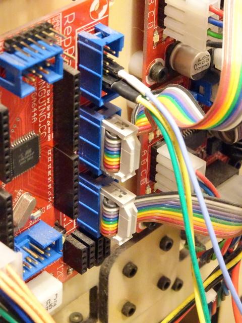 RepRap Motherboard v1.2 stepper driver connections on MakerBot CupCake