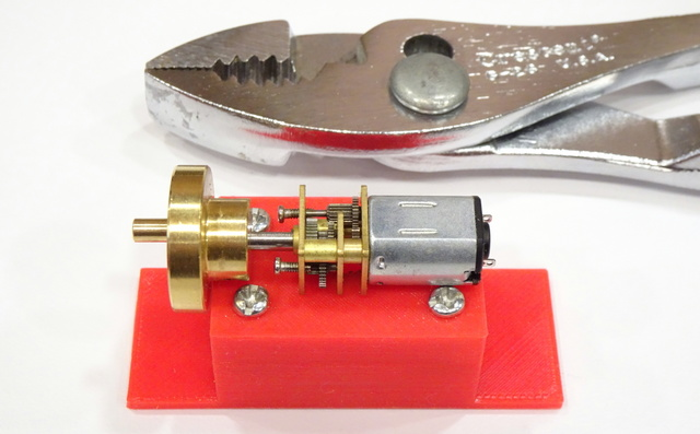 micro gearmotor with brass cam