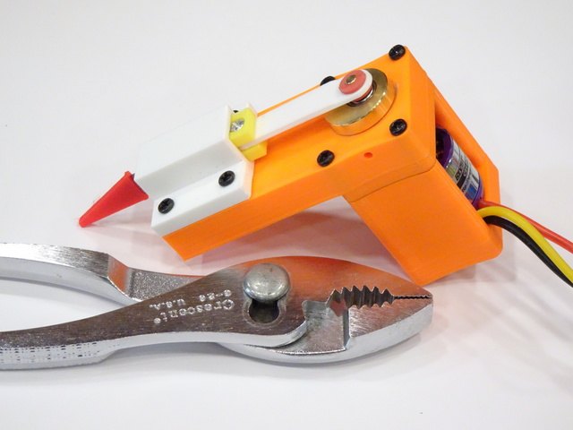 reciprocating cutter prototype with BLDC motor and skate bearing