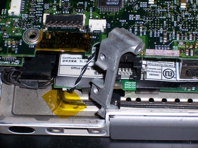PowerBook G4 500 Hinge Mount Backing