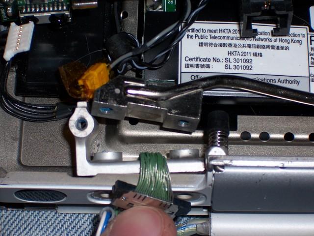 PowerBook G4 550 Hinge Backing