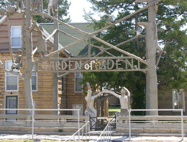 Garden of Eden, Lucas, KS: sign at exit