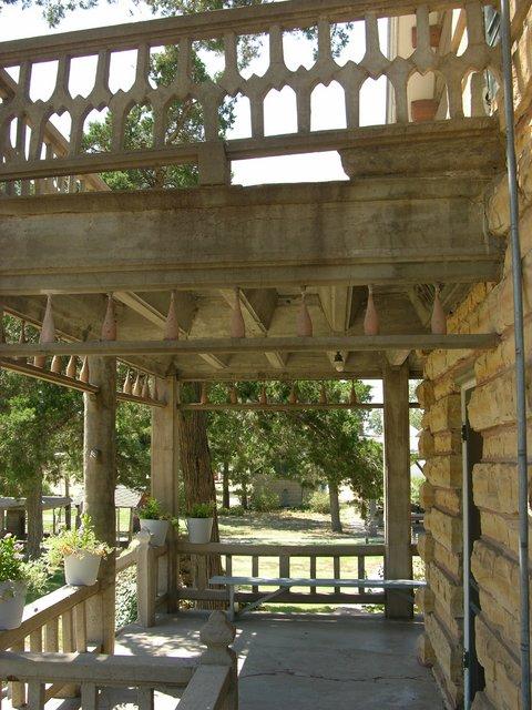 Garden of Eden, Lucas, KS: ornate concrete deck