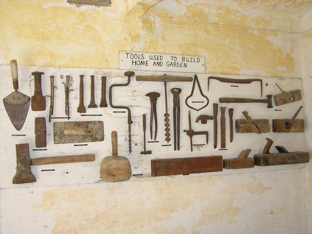 Garden of Eden, Lucas, KS: tools used to build home and garden