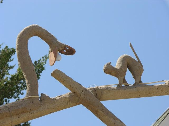 Garden of Eden, Lucas, KS: snake and rodent