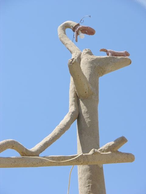 Garden of Eden, Lucas, KS: snake and rodent on tower