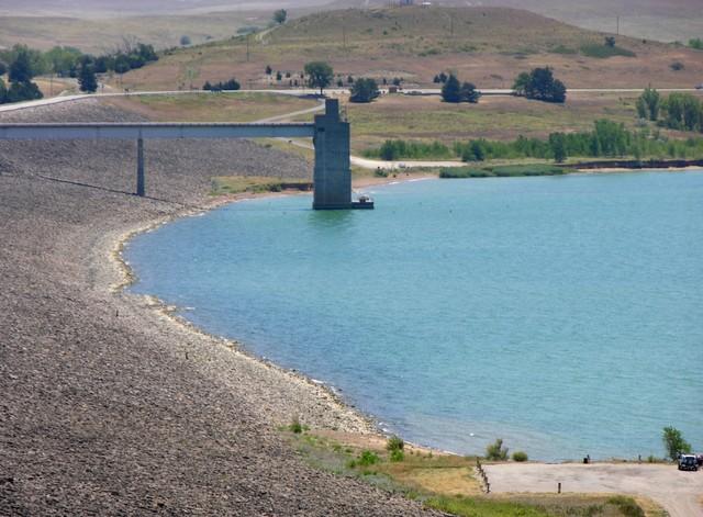 Wilson Lake, KS: spillway
