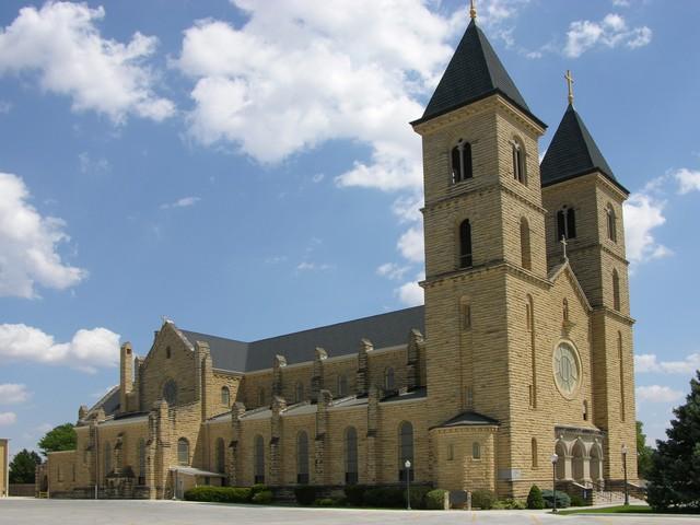 St. Fidelis Church, Victoria, KS: exterior