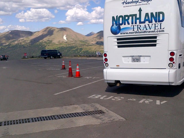 Rocky Mountain National Park: Alpine Visitor Center bus and RV parking