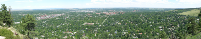 Boulder, Colorado, panorama