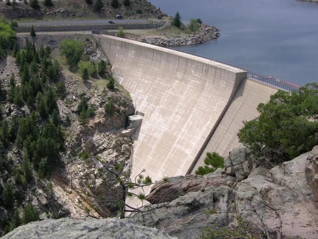 Gross Dam, Colorado: southern view