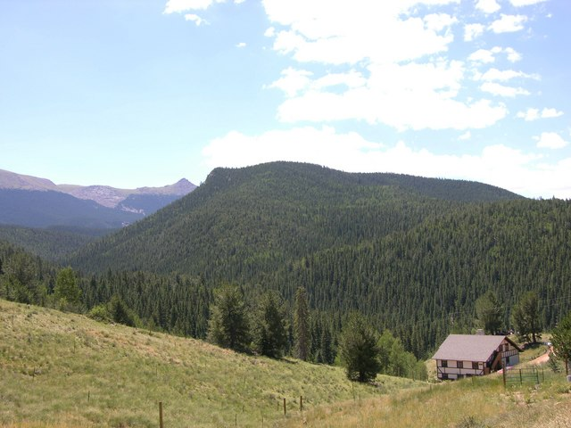 Rocky Mountain Mennonite Camp, Colorado: looking down on Emmental