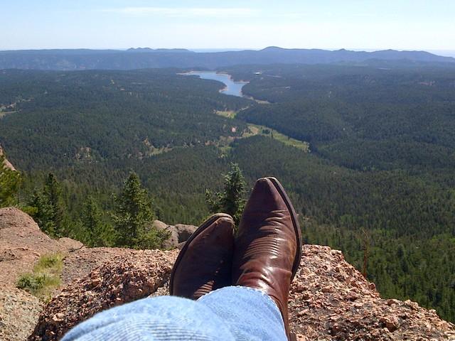 Self-portrait on top of Raspberry Mountain, Colorado