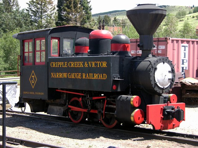 Cripple Creek and Victor Narrow Gauge Railroad: show locomotive