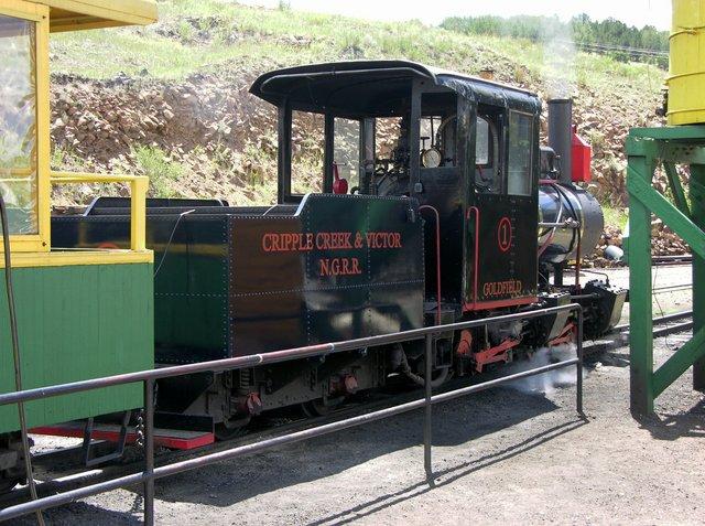 Cripple Creek and Victor Narrow Gauge Railroad locomotive