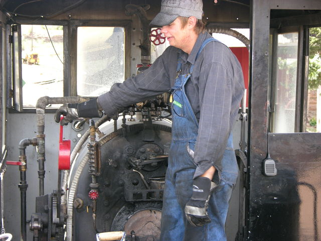 Cripple Creek and Victor Narrow Gauge Railroad engineer