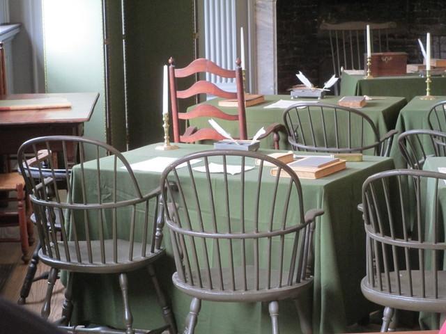 Independence Hall Assembly Room desk