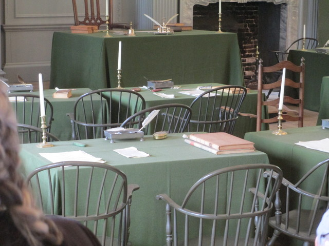 Independence Hall Assembly Room desk