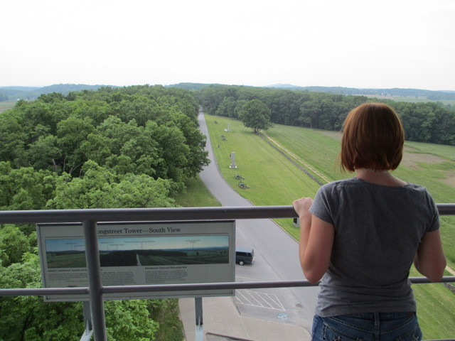View from Gettysburg observation tower