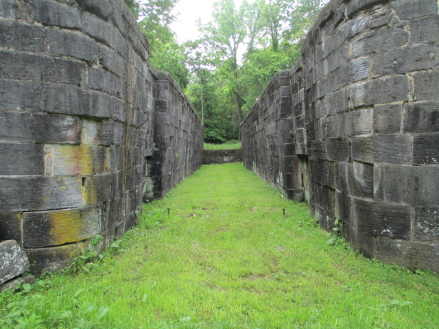 Abandoned lock in Four Locks Area, Chesapeake and Ohio Canal National Historic Park