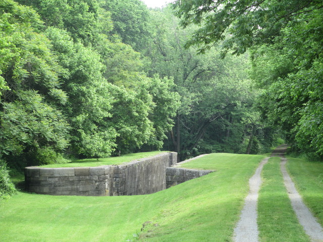 Abandoned locks in Four Locks Area, Chesapeake and Ohio Canal National Historic Park