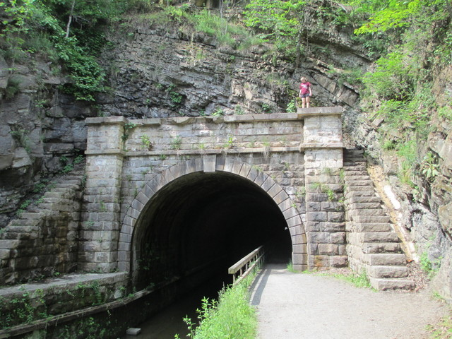 West entrance of Paw Paw Tunnel on Chesepeake and Ohio Canal