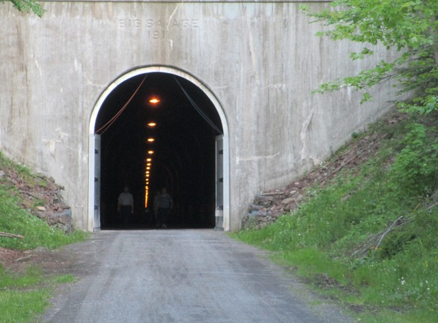 Northwestern end of Big Savage Tunnel on Allegheny Passage