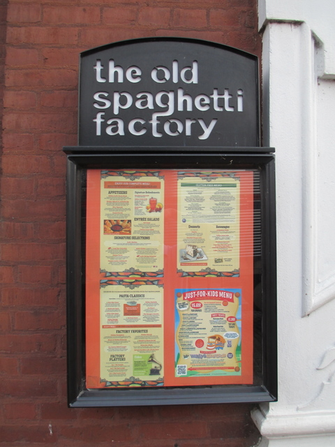 The Old Spaghetti Factory sign, St. Louis, Missouri