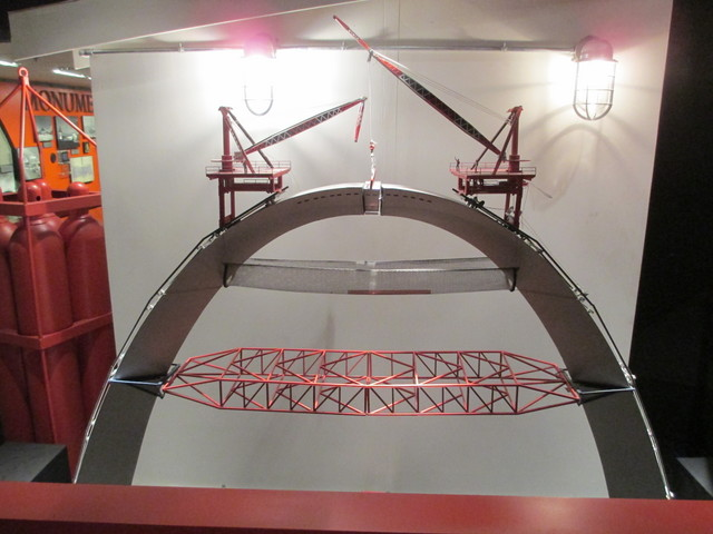 St. Louis Arch construction model